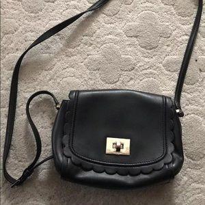 Kate Spade Black Scalloped Purse Crossbody Bag